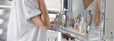 Make up shelf